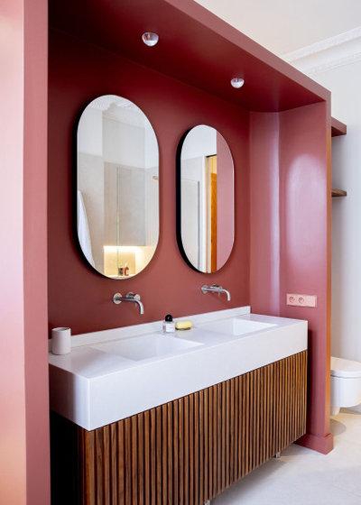 Современный Ванная комната by KERMAREC - Menuiserie & Rnovation