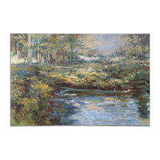 """Uttermost """"Lake James"""" Hand-Painted Wall Art, 60""""x40"""""""
