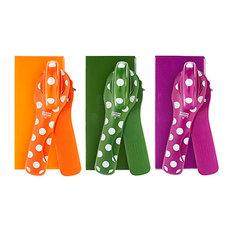 Kuhn Rikon Set of 3 Polka Dot Can Openers with Gift Boxes, Green, Orange, Purple