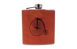 Antique Bicycle Hip Liquor Flask by The Hair of the Dog