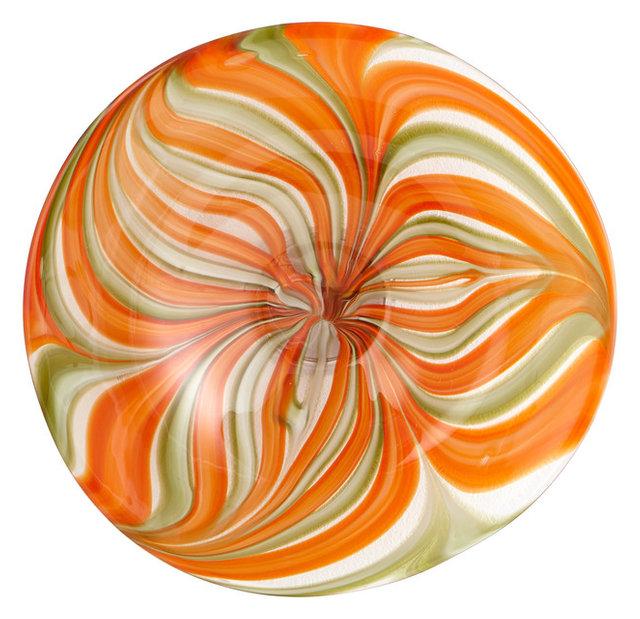 Small Chika Plate  sc 1 st  Houzz & Cyan Design 07797 Chika Plate Orange - Contemporary - Decorative ...