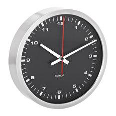 Era Wall Clock, Black, Medium