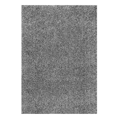 Solid Contemporary Shag Area Rug, 161x239 cm