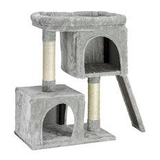 "3-tier Cat Activity Tree Cat Condo Tower Grey, 33""x30"""
