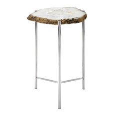 Giselle Agate Table White