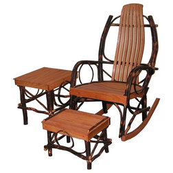Awesome Rustic Outdoor Rocking Chairs by Nutshell Stores LLC