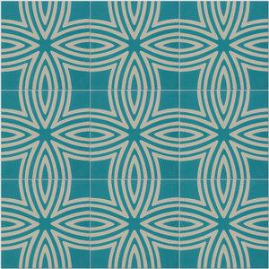 Wired Pattern Tiles, Marine, Set of 12