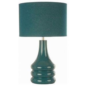 Raj Table Lamp, Teal