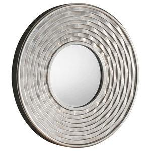 Circular Ribbed Wall Mirror, 79x79 cm