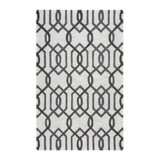 Rizzy Home Caterine Collection Tufted Area Rug, Gray, Off-White, 10'x14'
