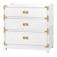 Bungalow 5 Victoria 3 Drawer Side Table In White