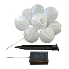 Solar Nylon String Lanterns, White