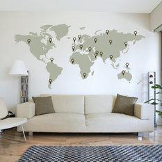 wallboss world map wall sticker wall stencils