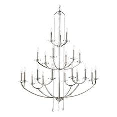 Progress Lighting 21-Light Candle Chandelier, Polished Nickel