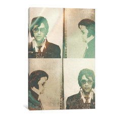 """Elvis Presley"" Print by 5by5collective, 40""x26""x1.5"", 1-Piece"