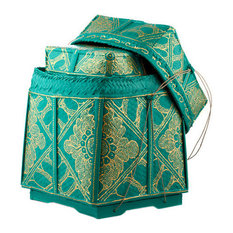 Image Result For Decorative Storage Color Block Round Basket Round Turquoise Basket