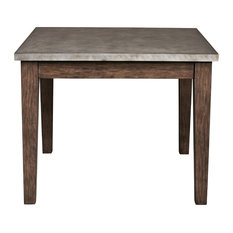 Vintage, Industrial Style Metal Wrapped Dining Table, Distressed Chocolate