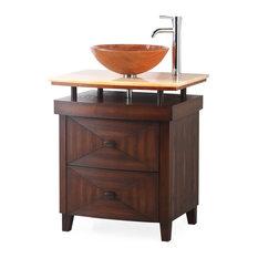 "28"" Verdana Vessel Sink Small Bathroom Vanity"