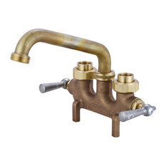 Central Brass 80465 Two Handle Laundry Faucet - Rough Brass