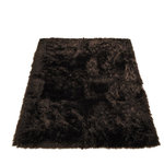 """Walk on Me - Classic Brown Bear Faux Fur Rectangle Rug, 56""""x79"""" - Classic solution to contemporary living - warm, inviting and just a little edgy - rich, dark, earthy brown; warm red undertones in the light - machine washable, hypoallergenic, non-slip - long pile"""