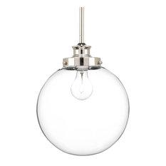 progress lighting progress glass globe pendant light polished nickel pendant lighting