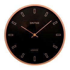 Rose Gold Wall Clock, Black