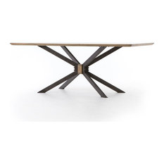 Quad Dining Table Bright Brass-79'