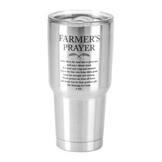 Stainless Steel Cold Or Hot Cup Tumbler Farmers Prayer Stainless Steel  30 Oz