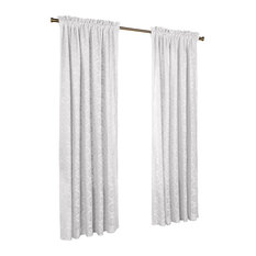 """Thermalace """"Anna""""Pole Top Panels, Set of 2, White, 104""""x95"""""""