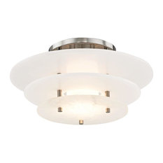 Hudson Valley Lighting 9016F-Pn Gatsby Led Flush Mount Light, Polished Nickel