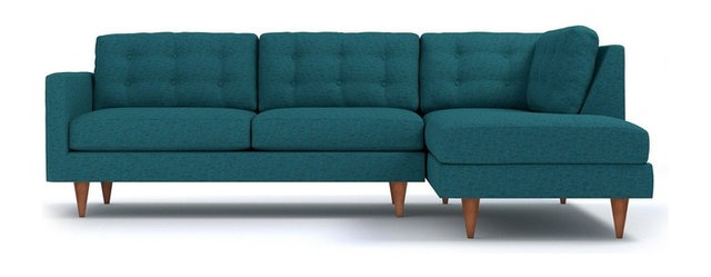 Logan 2 Piece Sectional Sofa, Chicago Blue, Chaise On Right