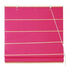 "Cotton Roman Shades, Pink, 48""x72"""