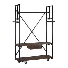 Pipa Industrial Coat Stand With Wheels