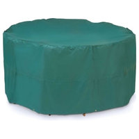 ALEKO CPS043 Weather Resistant Table and Chair Set Patio Cover, Green, Large