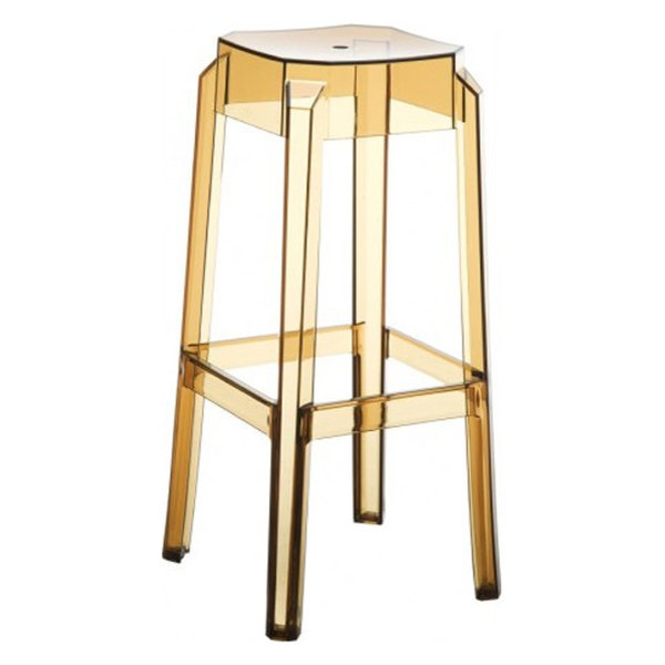 Fox Bar Stools, Set of 2, Transparent Amber