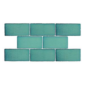 "3""x6"" Antiguo Special Ceramic Wall Tiles, Set of 8, Vert"