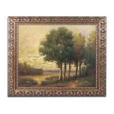 """Daniel Moises 'Tranquility' Ornate Framed Art, 11""""x14"""""""