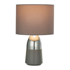 Accent Lamp, Polished Silver, Matte Gray