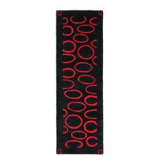 """Safavieh Soho Soh714B Rug, Black/Red, 2'6""""x8'0"""" Runner"""