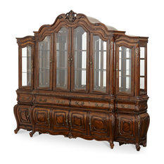 AICO Michael Amini Lavelle Melange China Cabinet With Side Piers