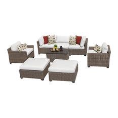 Monterey 8 Piece Outdoor Wicker Patio Furniture Set 08a