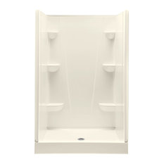 A2 4834CS-BI Composite 48-in Lx34-in Wx76-in H Shower Kit, Biscuit