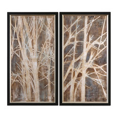 "Uttermost ""Twigs"" 2-Piece Hand-Painted Art Set, 23.13""x43.13"""