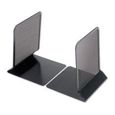 "Metal Mesh Bookends, 5 3/8""x6 3/4"", Black"