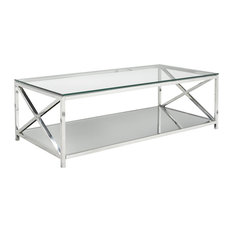 home gear ellen coffee table steel and glass coffee tables