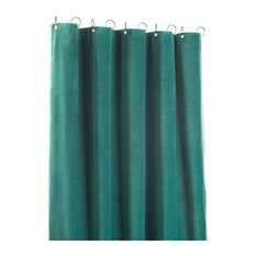 Tosca Lined Cotton Velvet Curtain, Duck Egg Blue