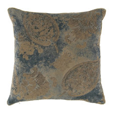 Vintage Velvet Indian Blue Pillow