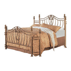 Sydney Antique Brushed Gold Iron Bed, Queen