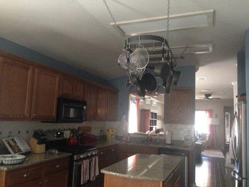 How To Update Hideous Fluorescent Lighting In Kitchen
