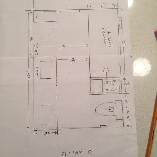 7 x 10 bathroom design is ok?